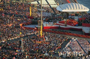 WYD2008 Opening Mass closeup